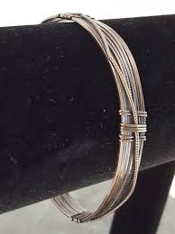 clasp bangle bracelet images Copper wire bangle with textured wire for ornamentation jpg