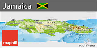 jamaica physical map free physical panoramic map of jamaica political outside shaded