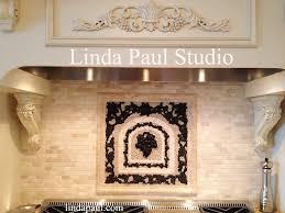 kitchen backsplash medallion popular tile medallions and grapes mosaic tile medallion kitchen