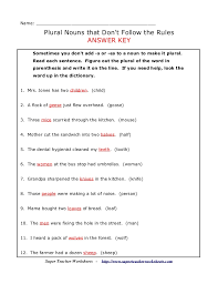 plurals rules and practice