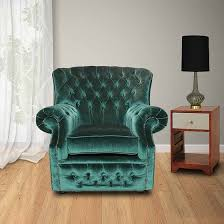 Green Chesterfield Armchair Chesterfield Monks High Back Wing Chair Uk Manufactured Armchair