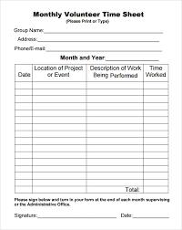 volunteer timesheet template 11 download free doccuments in pdf