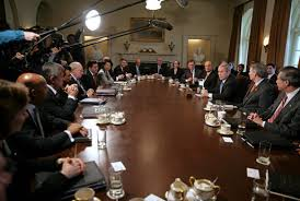 Cabinet President President Bush Meets With The Cabinet