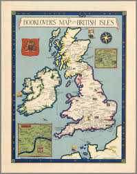 Map Book The Booklovers U0027 Map Of The British Isles Paine 1927 Map Uk