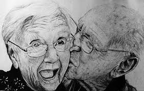 old couple rodrick forsi drawings u0026 illustration people