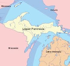 peninsula michigan map peninsula of michigan