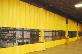 Retractable Welding Curtains Industrial Curtain Walls Vinyl Dividers U0026 Partition Curtains