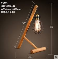 Edison Table Lamp Vintage Wood Metal Table Lamp In Industrial Loft Style Edison
