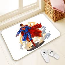 superman home decor h p752 custom superman 2 doormat home decor 100 polyester pattern