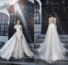 sle wedding dresses 2017 gorgeous milva bridal wedding dresses illusion sleeves