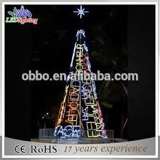 3d motif design giant outdoor decorate christmas tree popular top