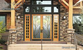 Doors Exterior Entry Branch Out Glass Front Doors Exterior Entry Within Prepare 17