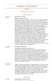 Mortgage Resume Mortgage Consultant Resume Samples Visualcv Resume Samples Database