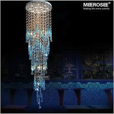 blue crystal chandelier light royal blue crystal chandelier light fixture long large crystal l