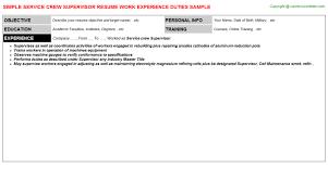 Resume Service Crew Service Crew Supervisor Job Title Docs