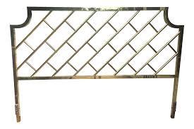 chippendale style brass king headboard chairish