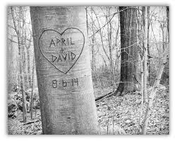 initials carved in tree personalized tree prints