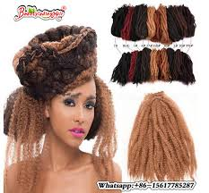 crochet marley hair 18 100g synthetic afro curly twist hair crochet braids