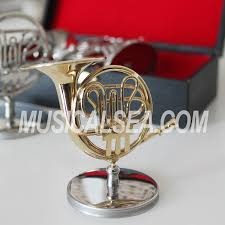 miniature horn model metal ornament miniature musical