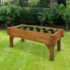 Garden Bench With Planters Diy Raised Planter Beds Stand Med Art Home Design Posters