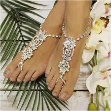 barefoot sandals angel wedding barefoot sandals foot jewelry bridal