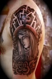 religious half sleeve tattoos on religious tattoos for