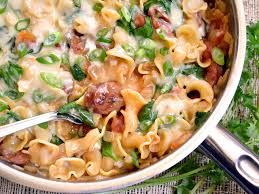 creamy spinach and sausage pasta budget bytes