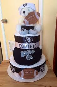 Oakland Raiders Curtains Oakland Raiders Diaper Cake 2 My Diaper Cakes Pinterest