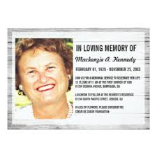 funeral invitation funeral photo invitations announcements zazzle canada