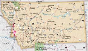 Bitterroot Mountains Map Bitterroot Parkway Trip Idea