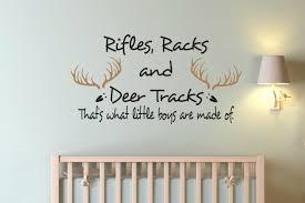 Kids Room Decals by Rifles Racks And Deer Tracks Decal Boys Room Decal Kids