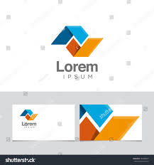 icon design element business card template stock vector 162488033
