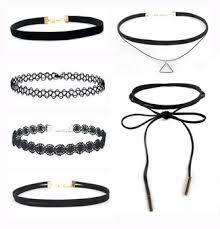 black gothic choker necklace images Gothic choker necklace sets velvet chocker jewelry black jpg