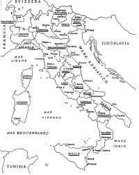 provinces of italy map town names records search