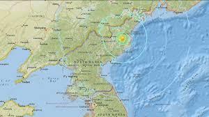 Nuclear Bomb Map North Korea Abc13 Com