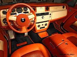 roll royce orange mansory rolls royce phantom limo and phantom drophead coupe are