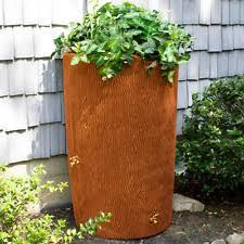 outdoor rain barrel garden plastic water tank container storage 50