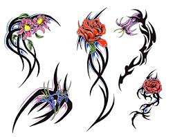 free design for tribal rose tattoo