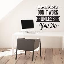 dreams dont work wall sticker moonwallstickers com dreams dont work wall sticker