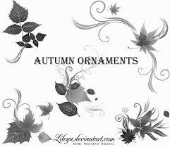 autumn ornaments decorative photoshop brushes brushlovers