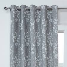 blossom floral lined eyelet curtains pair all