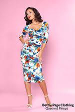 bettie page wiggle pencil rockabilly dresses for women ebay