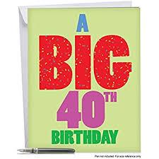 amazon com 2 u0027x3 u0027 giant 40th birthday card with envelope