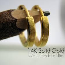 s mens earrings men s earrings hoop slim earrings handcrafted from 14k