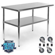 Commercial Food Prep Tables EBay - Kitchen prep table stainless steel