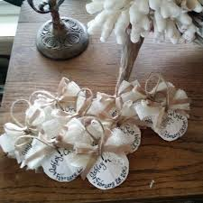sand dollar calligraphy ornaments wedding favors ribbon
