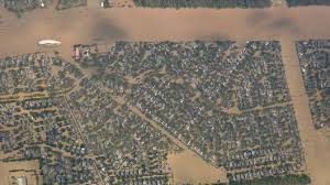 houston map flood here s a near real time aerial photo map of harvey s flooding and