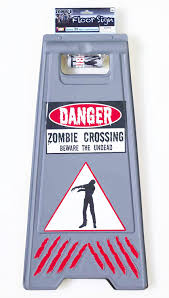 amazon com forum novelties zombie crossing sign and tape