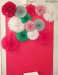 paper backdrops diy tissue paper pom pom and fan backdrop