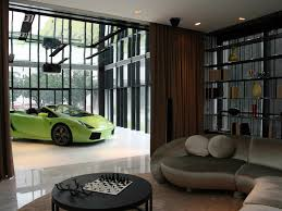 interior green luxurious car in living room car garage design interior green luxurious car in living room car garage design car repair garage